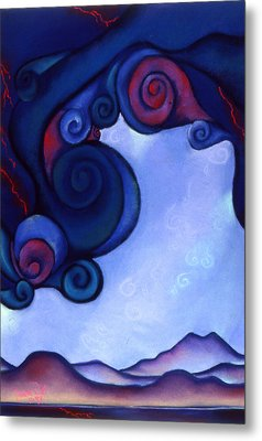 Metal Print featuring the pastel Stormy by Susan Will