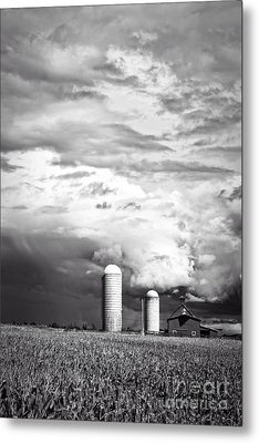 Stormy Weather On The Farm Metal Print