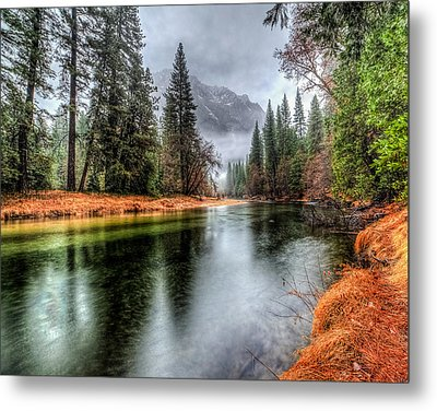 Stormy Yosemite II Metal Print