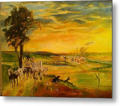 Story Metal Print by Mary Ellen Anderson