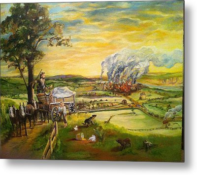 Story2 Metal Print by Mary Ellen Anderson
