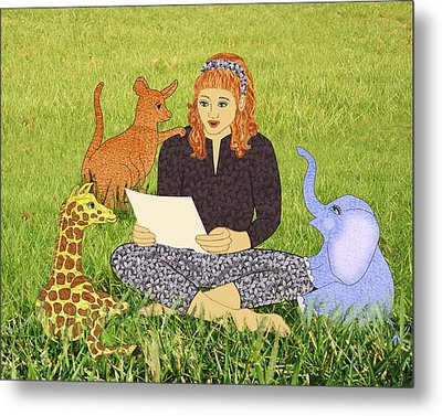 Storytime Metal Print by Julia and David Bowman