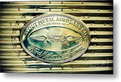 Stout Metal Airplane Co. Emblem Metal Print