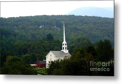 Stowe Community Church Metal Print by Patti Whitten