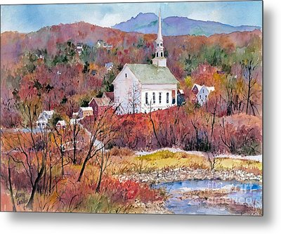 Stowe Village Metal Print by Sherri Crabtree