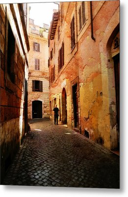 Metal Print featuring the photograph Strade Di Ciottoli by Micki Findlay