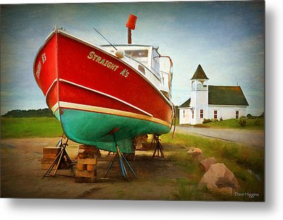 Straight A's  Beals Deals Island  Maine Metal Print by Dave Higgins
