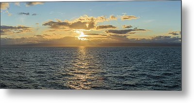 Strait Of Magellan At Sunset, Southern Metal Print by Panoramic Images