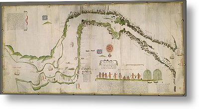 Straits Of Magellan Metal Print by British Library