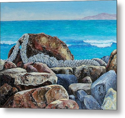 Metal Print featuring the painting Stranded by Susan DeLain