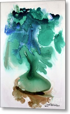 Metal Print featuring the painting Strange Compote by Joan Hartenstein