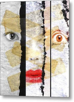 Strange Faces Metal Print by David Ridley