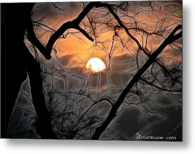 Metal Print featuring the photograph Strange Morning by EricaMaxine  Price