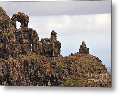 Strange Rock Formation Metal Print
