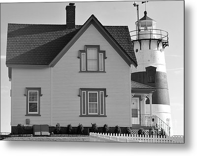 Stratford Point Light 4 Metal Print by Catherine Reusch Daley
