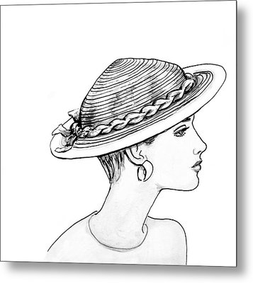 Straw Hat Metal Print by Sarah Parks