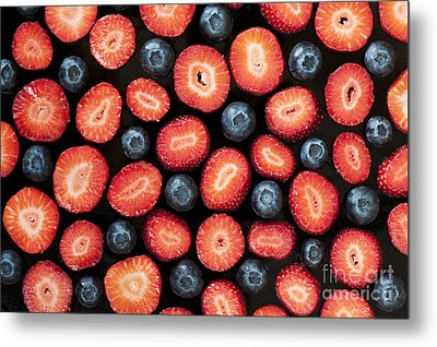 Strawberries And Blueberries Metal Print by Tim Gainey