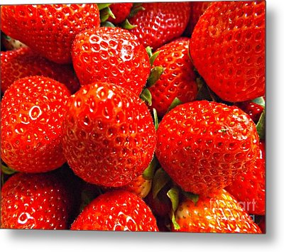 Strawberries Metal Print by Clare Bevan