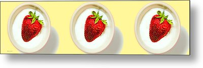 Strawberry And Cream Metal Print