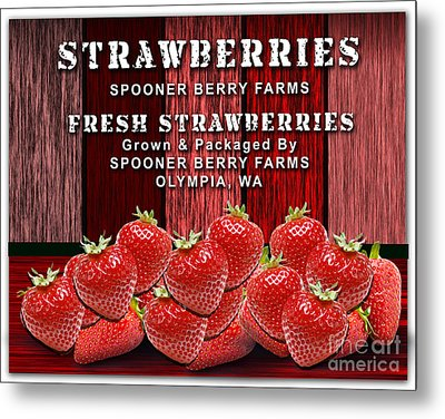 Strawberry Farm Metal Print