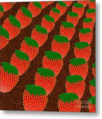 Strawberry Fields Forever Metal Print by Andee Design