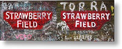 Strawberry Fields Forever Metal Print by Semmick Photo