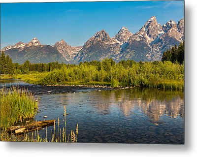 Stream At The Tetons Metal Print by Robert Bynum