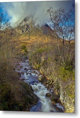 Stream Below Buachaille Etive Mor Metal Print by Gary Eason