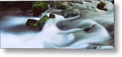 Stream Flowing Through Rocks, Alley Metal Print