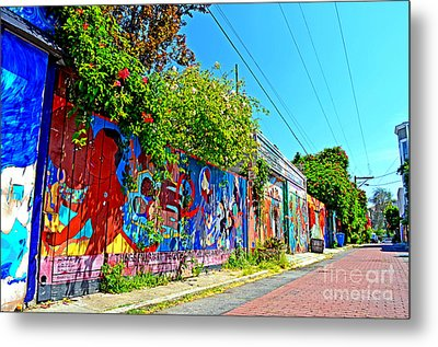 Street Art In The Mission District Of San Francisco IIi Metal Print by Jim Fitzpatrick