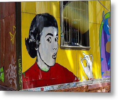 Street Art Valparaiso Chile 7 Metal Print by Kurt Van Wagner