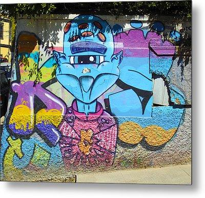 Street Art Valparaiso Chile 9 Metal Print by Kurt Van Wagner