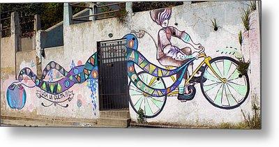 Street Art Valparaiso Chile Metal Print by Kurt Van Wagner