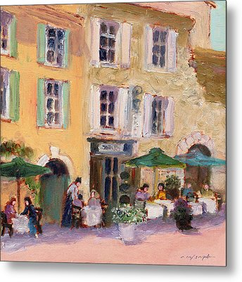 Street Cafe Metal Print by J Reifsnyder