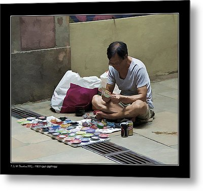 Metal Print featuring the photograph Street Cans Craftsman by Pedro L Gili