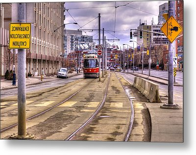 Street Car On Lakeshore Metal Print by Nicky Jameson