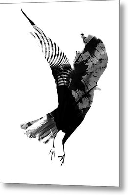 Street Crow Metal Print by Jerry Cordeiro