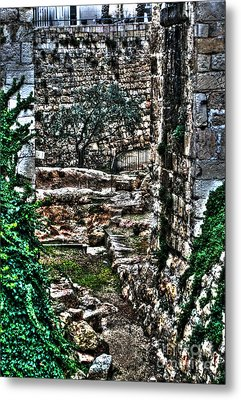 Metal Print featuring the photograph Street In Jerusalem by Doc Braham