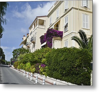 Metal Print featuring the photograph Street In Monaco by Allen Sheffield