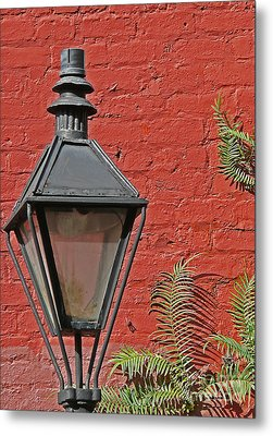 Street Lamp Metal Print by Jeanne  Woods