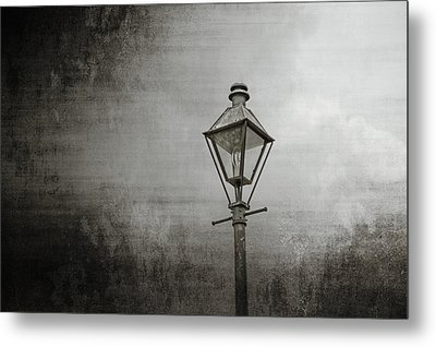 Street Lamp On The River Metal Print