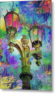 Street Lamp Rainbows Metal Print by John Fish
