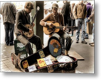 Street Music Metal Print by Spencer McDonald