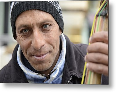 Street Musician - The Gypsy Bassist 2 Metal Print