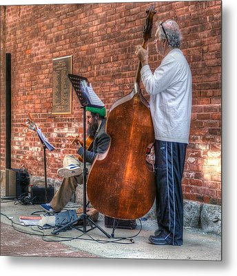 Street Musicians - Great Barrington - No. 2 Metal Print by Geoffrey Coelho