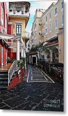 Street Of Capri Metal Print