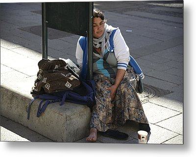 Metal Print featuring the photograph Street People - A Touch Of Humanity 10 by Teo SITCHET-KANDA