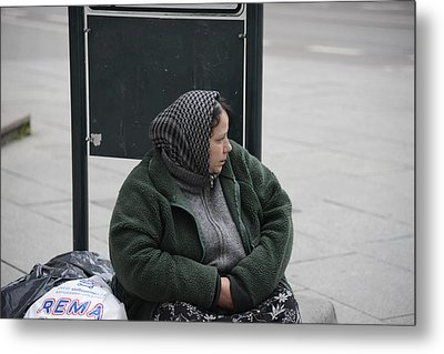 Metal Print featuring the photograph Street People - A Touch Of Humanity 9 by Teo SITCHET-KANDA