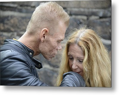 Metal Print featuring the photograph Street People - A Touch Of Humanity 4 by Teo SITCHET-KANDA