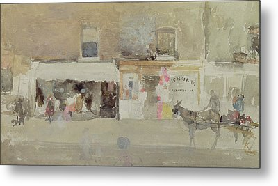 Street Scene In Chelsea Metal Print by James Abbott McNeill Whistler
